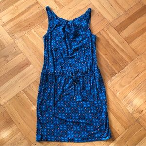Blue drawstring dress from Banana Republic